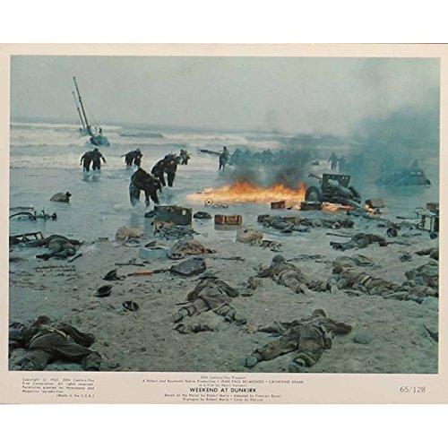 Tarjeta de fin de semana en Dunkerque vestíbulo N8de 8x 10en.–1964–Henri Verneuil, Jean-Paul Belmondo