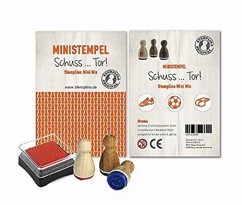 Mini Stempel Set 3er Pack / 10 verschiedene Motiv Mixe zur Auswahl Schuss... Tor!