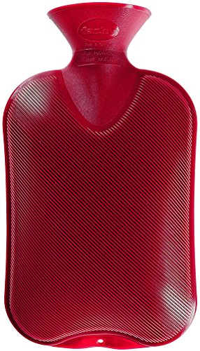 Fashy 6460 42 Wärmflasche Doppellamelle 2.0 L, cranberry