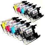 *TITOPATEN* 10x Brother MFC J 5910 DW kompatible XL Druckerpatronen ersetzt Typ 1240 - 4xSchwarz-2xCyan-2xMagenta-2xGelb