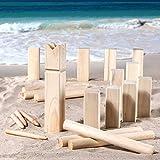 SIDCO Strand Beach Spiel Holz Kubb Schach Outdoor Wurfspiel Gartenspiel Rasenschach
