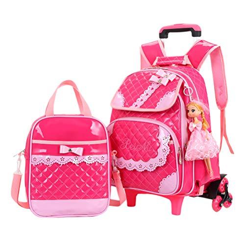 besbomig Kinder Schultasche Studenten Tagesrucksack Trolley-Rucksack mit