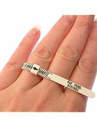 Pfau Ring Größe Gauge (A-Z UK Größen)/Multisizer sparsam Ringmaß für Herren und Damen/Karo Ring Größe @ Home