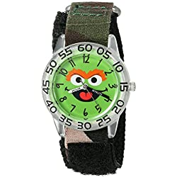 eWatchFactory Boy's 'Sesame Street' Quartz Plastic and Nylon Automatic Watch, Color:Green (Model: W003152)