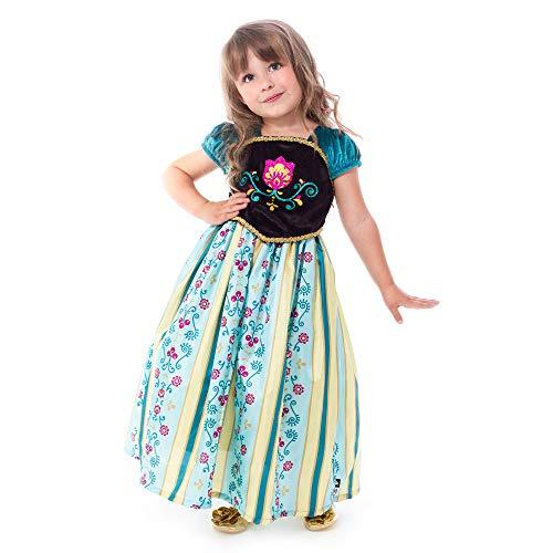 Frozen Kostüm Toddler - Little Adventures Wenig Abenteuer traditionellen skandinavischen Prinzessin Krönung Mädchen Kostüm-Medium (3-5Jahre)