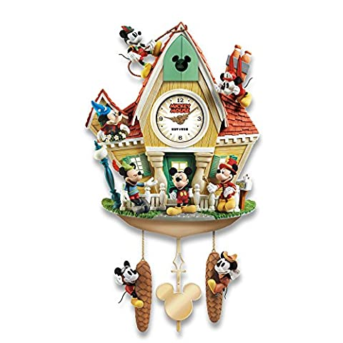 Officially Licensed Disney Mickey Mouse Through The Years Wall Cuckoo