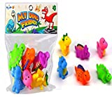 #10: Wishkey Lovely Dinosaur Animals Colorful Soft Rubber Bath Squirties