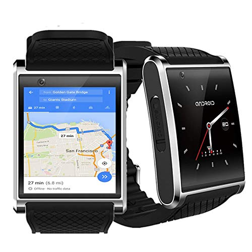 Bluetooth 4.2 Sync Android 5.1 SmartWatch (1,54 Zoll AMOLED Display, QuadCore CPU, Google Play Store und WiFi)