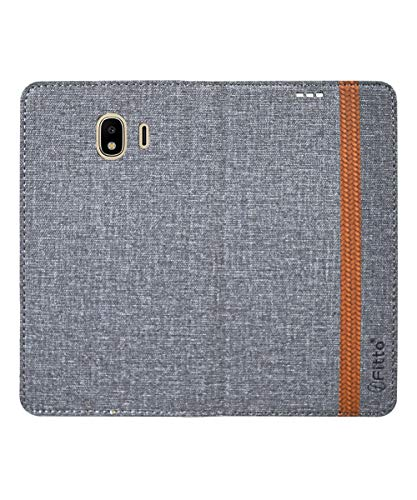 COVERNEW British Leather Flip Cover for Samsung Galaxy J2 Core (2018) - Grey