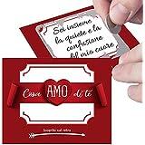 Gratta e Vinci personalizzato Ti Amo per lui o per lei - 5 biglietti per sorpresa romantica al tuo amore. Regalo originale pe