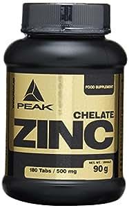Peak Zink Chelat, 180 Tabletten, 1-er Pack (1 x 90 g)