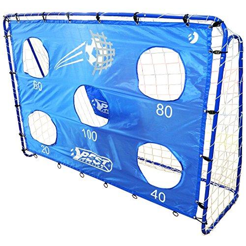 Best Sporting Fußballtor-Torwand Blau mit 5 Schusslöchern, inklusive
