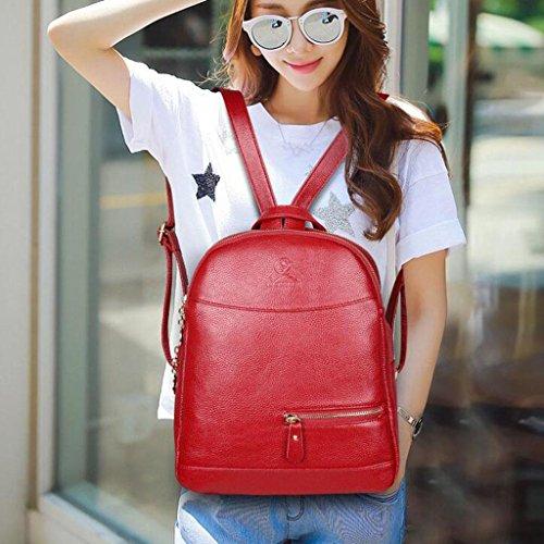 Y&F Reiserucksack Rucksack Schultertaschen Handtasche Freizeitpaket 28 * 14 * 33 Cm Red