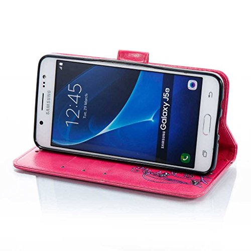 Galaxy S8 Hülle [mit Frei Hartglas Displayschutzfolie], BoxTii® Galaxy S8 Schutzhülle mit Kartenfächern, Premium Lederhülle Ledertasche Handyhülle mit Standfunktion für Samsung Galaxy S8 (#4 Schwarz) #8 Rosa