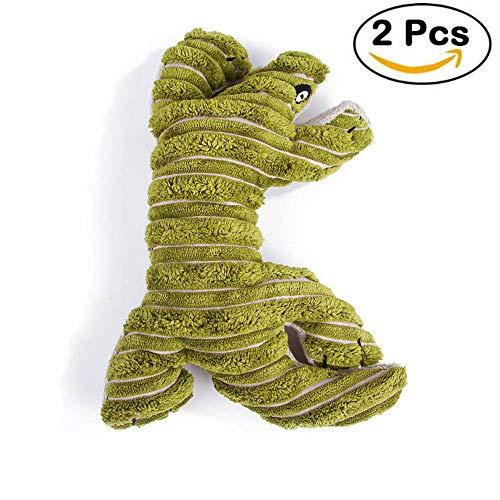 Pet Puppy Chew Plüsch Sound Spielzeug Quietschender Tier Hund Chew Toy Dog und Cat Squeaker,Green (Hundespielzeug Stuff Tiere)