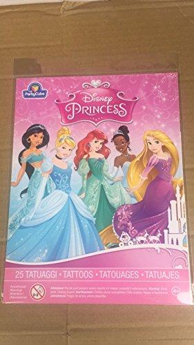 SIAD-Set 25Tattoos Prinzessinnen Disney (verschiedene Muster), mehrfarbig, 33301 (Disney Tattoo Prinzessinnen)