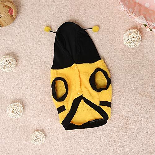 YUWA Biene Haustierkostüm, für Katze Bumble Bee Outfits Halloween Kostüm Overall Kostüm Haustier Urlaub Kleidung Hunde Biene Hundekostüm Kleiner Hund ()