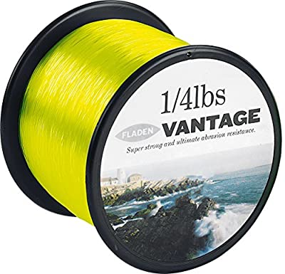 FLADEN VANTAGE PRO Bulk 1/4lb Spools of Extra Strong Monofilament Sea Fishing Line (YELLOW FLUORO) - comes in 15, 20, 30 & 50lbs by FLADEN
