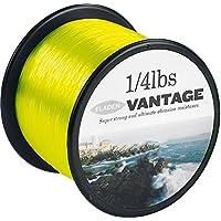 FLADEN-VANTAGE PRO, 1 g (%2f 1814,37 4lb), Extra forte, bobine di filo da pesca monofilo, mare, colore: giallo fosforescente, _Disponibile in 15, 20, 30 g (50 & 22679,60 LBS) - Bobine 20 Pound