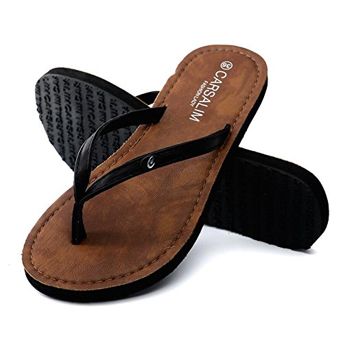 Cailin Sandals, Pantoufles d'été Sandales de plage Chaussures de mode à la mode Blanc, Noir, Marron ( Couleur : Blanc , taille : EU39/UK6/CN39 ) Noir
