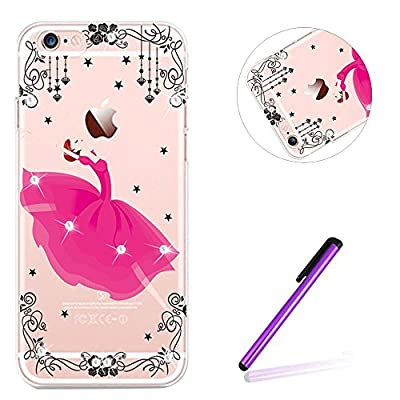 iPhone 7 Case Silicone,iPhone 7 Case TPU,iPhone 7 Case Bling,iPhone 7 Case Bumper,EMAXELERS iPhone 7 4.7 Inch Glitter Bling Soft Flexible TPU Silicone Case Cover for iPhone 7,iPhone 7 Clear Case with Luxury Crystal Diamond Electroplate Plating Frame Bumpe