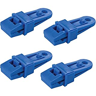 White Hinge 16x Camping Tarpaulin Eyelet Clips - Non-Piercing Tent Tie Down Cover Set