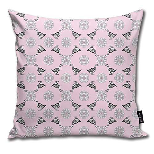 senbezug mit Gänseblümchen in Blütenblättern, rosa Kissenbezug für Zuhause, Wohnzimmer, Couch Sofa, Dekoration, 45,7 x 45,7 cm ()
