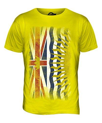 CandyMix British Columbia Verblichen Flagge Herren T Shirt Zitronengelb