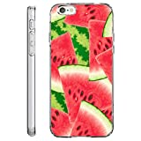 Loose Werbetechnik Handy Hülle, TPU Schutzhülle Tasche Case Cover, Kratzfest Weich Flexibel Silikon für iPhone Edition Früchte, Melone, Handy:iPhone 6 / 6S;Handy Motiv:Wassermelone allover