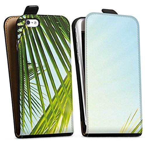 Apple iPhone X Silikon Hülle Case Schutzhülle Palme Sonne Urlaub Downflip Tasche schwarz