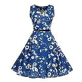 MRULIC Prinzessin Abendkleid Vintage Kleid Cocktailkleider (EU-36-38/CN-M, N-Blau)