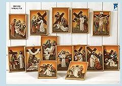 Idea Regalo - Quadri in resina Set 14 Stazioni Via Crucis - Pasqua - Dimensioni cm. 16,5 x 11,5