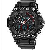Herrenarmbanduhr Smart Watch Militäruhr Fashion Watch Sportuhr Digital Quartz Chronograph Wasserdicht (Color : Rot)
