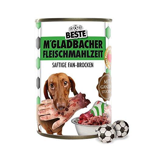 Preisvergleich Produktbild Hundefutter - Gladbacher Fleischmahlzeit - Leverkusen-,  Köln- und alle Fußball-Fans aufgepasst. Witziges Geschenk für Freunde,  Kollegen,  Geburtstage und Partys zum Verschenken und Wegputzen - Würstchen,  Würste,  Knackwurst,  Scherzartikel
