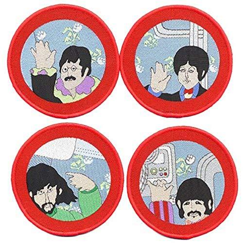 Band Monkey Beatles Aufnäher Set Cartoon Bullauge (Set von 4 Iron on Pa)
