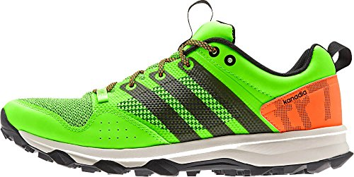 Adidas Outdoor Kanadia 7 Trail Running Shoe - Midnight Indigo / gesso bianco / giallo solare 6.5 Solar Green/Black/Solar Orange