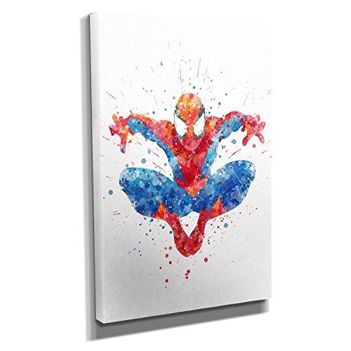 Spider Splash - Kunstdruck auf Leinwand (20x30 cm) zum Verschönern Ihrer Wohnung. Verschiedene Formate auf Echtholzrahmen. Höchste Qualität. (Spider Wand Amazing Man)