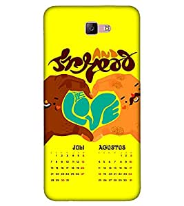 Takkloo Spread the hope ( Yellow background, July Calender, August Calender, Heart sign, Love symbol) Printed Designer Back Case Cover for Samsung Galaxy A3 :: Samsung Galaxy A3 (2017)