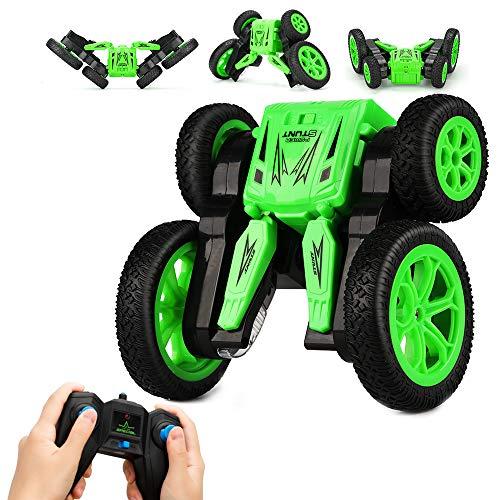 KOOWHEEL RC Auto Ferngesteuertes Auto RC Stunt Car 360 Doppelseitig drehbares Hochgeschwindigkeits-Rock-Crawler-Fahrzeug mit Scheinwerfern, Geschenk