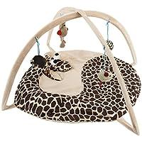 Freeas Cat Interactive Bed Gato Perro Interactivo Estera Mascota Almohadilla Cama con Colgando Juguetes Bolas y Ratones, Gato Juguete Estupendo Regalo, (3)