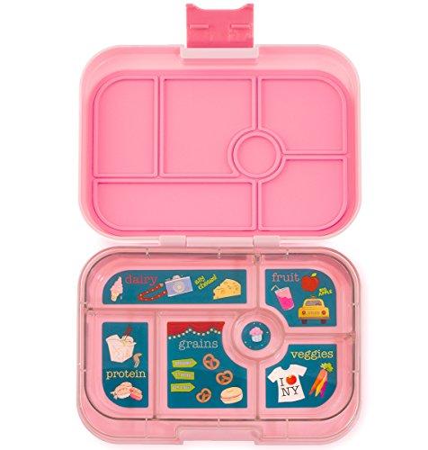 Yumbox Original M Lunchbox - mit 6 Fächern (Gramercy Pink) - Brotdose mit Unterteilung | BentoBox mit Trennwand Einsatz | Brotbox für Schule und Kindergarten Kinder, Arbeit. Ideal für Clean Eating Outmeal Lunch