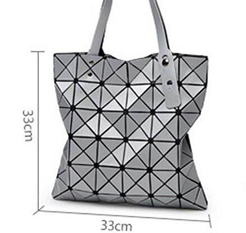 Nuovo Lingge Borse Matita Geometria Tendenza Spalla Pacchetto Diagonale Laser Borsetta Gray