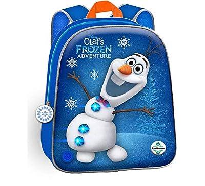 Toybags,S.L.U Mochila Frozen Una Aventura de Olaf 3D con Luz y Sonido 24 X 32 X 9 cm. por Toybags,S.L.U
