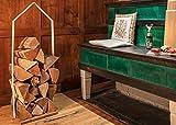 Unbekannt Design im Dorf Kaminholzständer Kaminholzregal Ständer für Kaminholz Holzhütte weiß