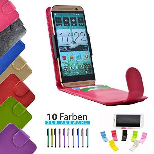 ikracase 4 in 1 Set Hülle Flip Handyhülle für TP-Link Neffos C5 Max Smartphone Hülle Tasche Case Cover Schutzhülle Handytasche Etui in Rosa - 5,5