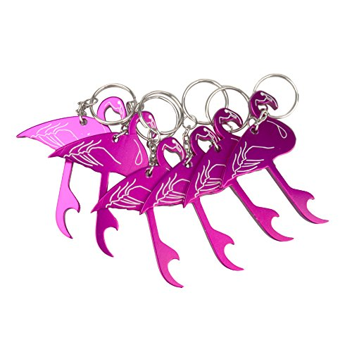 Temlum Aluminium Bier Flaschenöffner Schlüsselanhänger Tier Mini Flaschenöffner Schlüssel Sammler EDC Pocket Schlüsselanhänger lustiges Geschenk (Flamingo)