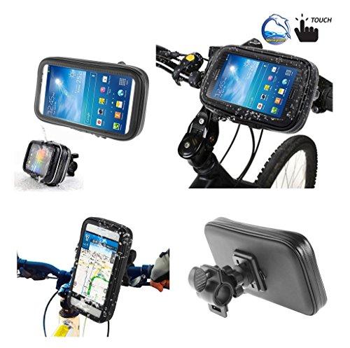 DFV mobile - Support Professionnel pour le Guidon de Bicyclette et la Moto Imperméable Rotative 360 º pour => HTC HERO > Noir