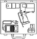 Oventrop Akku-Pressmaschine 12 V (Akku), für Press-Fitting Cofit P