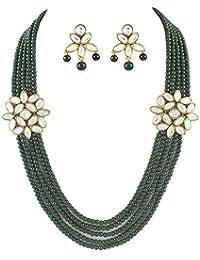 Shining Diva Muticolor Kundan Necklace Set For Women
