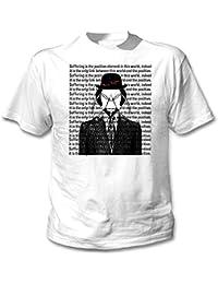 Teesquare1st Men's FRANZ KAFKA - SUFFERING White T-Shirt